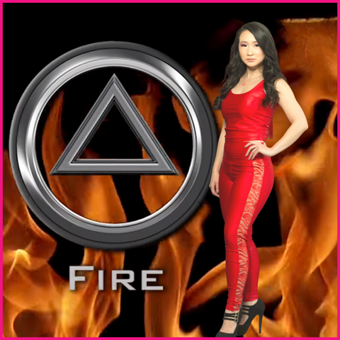 Fire-Luxe Label 4 elements.
