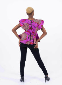 African Print Top - Kiki, Female, Dial_Outfits, Dial_Outfits