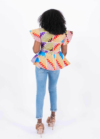 Image of African Print Top - Kiki, Female, Dial_Outfits, Dial_Outfits