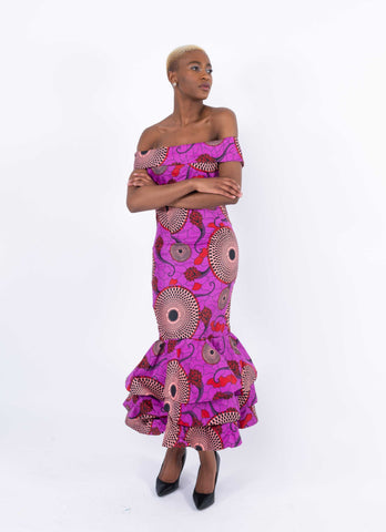 African Print Mermaid Dress - Aghogho, Female, Dial_Outfits, Dial_Outfits
