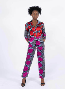 Silk Two Piece Trouser Set - Fegor, Female, Dial_Outfits, Dial_Outfits