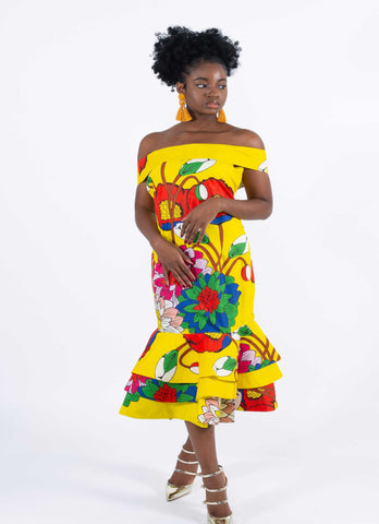 Image of African Print Mermaid Dress - Aghogho, Female, Dial_Outfits, Dial_Outfits