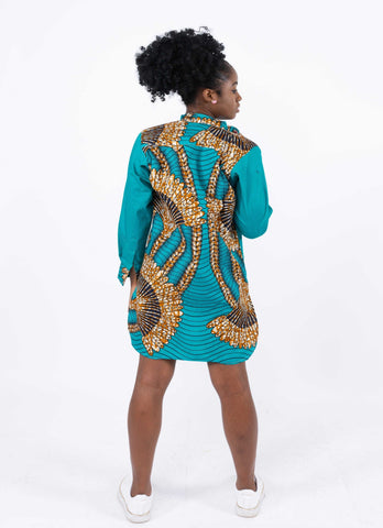 Image of African Print Boyfriend Dress - Ovie, Female, Dial_Outfits, Dial_Outfits