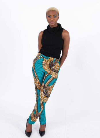 Image of African Print Straight Pants - Ufuoma, Female, Dial_Outfits, Dial_Outfits