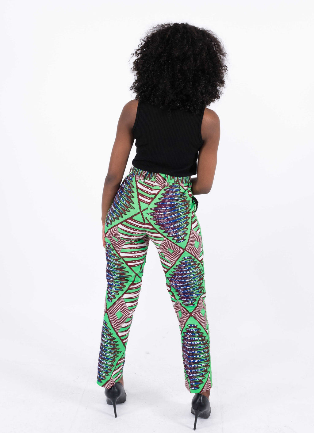 African Print Straight Pants - Ufuoma, Female, Dial_Outfits, Dial_Outfits