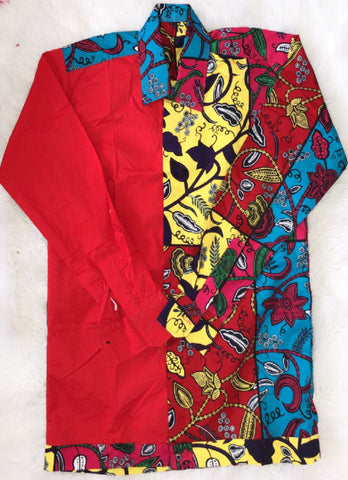 Image of African Print Long Sleeve Top - Ajiri, Male, Dial_Outfits, Dial_Outfits