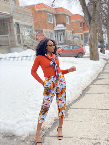 Image of African Print Knee Pants - Ufuoma