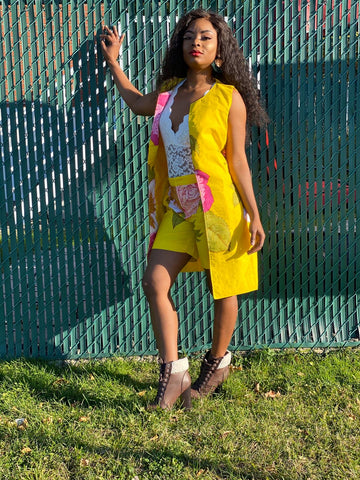 Two Piece Shorts Set - Tena Yellow