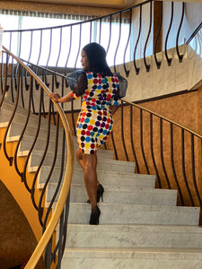 African Print Multcolored Dress - Rena