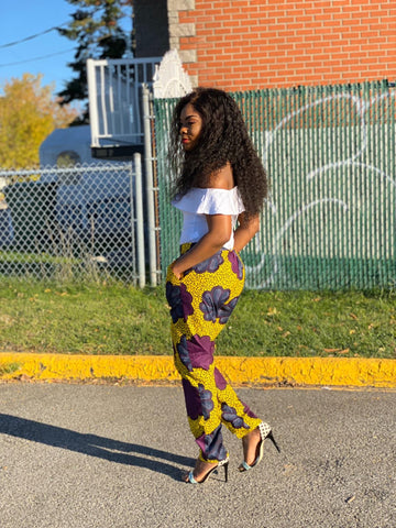 Image of African Print Straight Pants - Remu