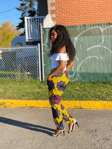 African Print Straight Pants - Remu