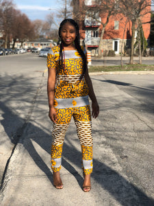 African Print Jump Suits - Emi
