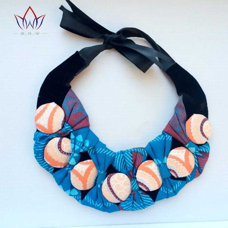 African Print Bownot Button Choker Necklace WYX14 | Dial_Outfits