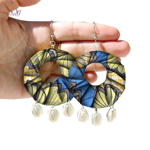 Image of African Print Tribal Earrings WYB271 | Dial_Outfits