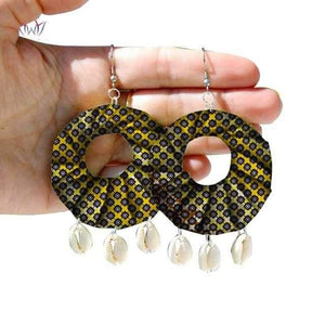 African Print Tribal Earrings WYB271 | Dial_Outfits