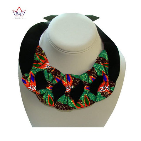 Image of African Print Bownot Necklace WYX17 | Dial_Outfits