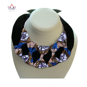 African Print Bownot Necklace WYX17 | Dial_Outfits