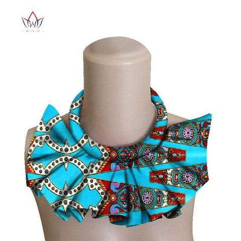 Image of African Print Choker Necklace WYX09 | Dial_Outfits