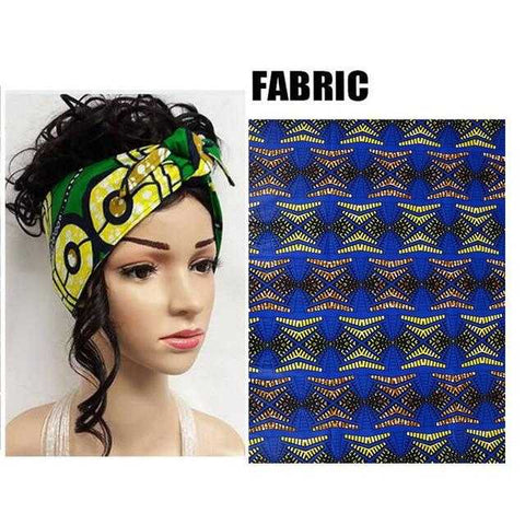 Image of African Print Head Tie WYX04 | Dial_Outfits