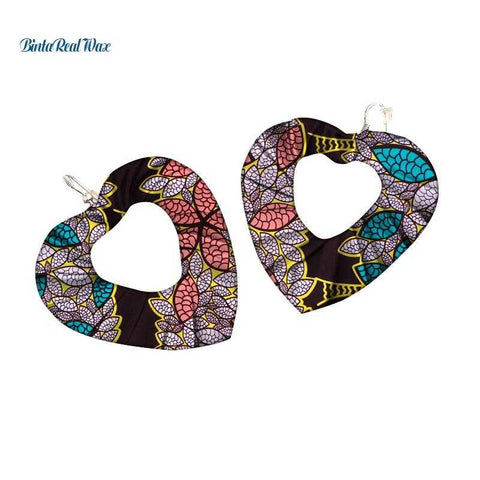 Image of African Print Drop Earrings WYB344 | Dial_Outfits