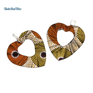 African Print Drop Earrings WYB344 | Dial_Outfits