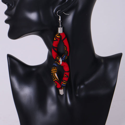 Image of African Print Pendant Fantasy Earrings WYb343 | Dial_Outfits