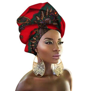 African Print Turban Head Tie | Dial_Outfits
