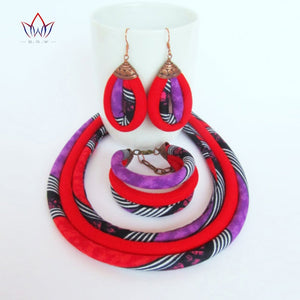 African Print Jewelry Set WYX01 | Dial_Outfits
