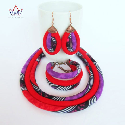 Image of African Print Jewelry Set WYX01 | Dial_Outfits
