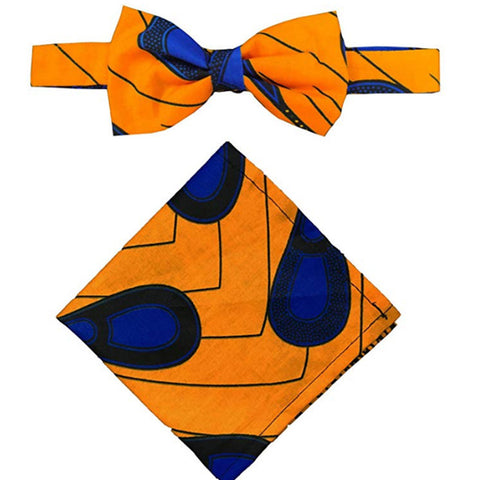 Image of African Print Bow Tie & Pocket Square