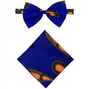 African Print Bow Tie & Pocket Square