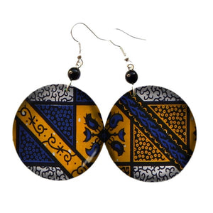 African Print Oversize Earrings WYB286 | Dial_Outfits