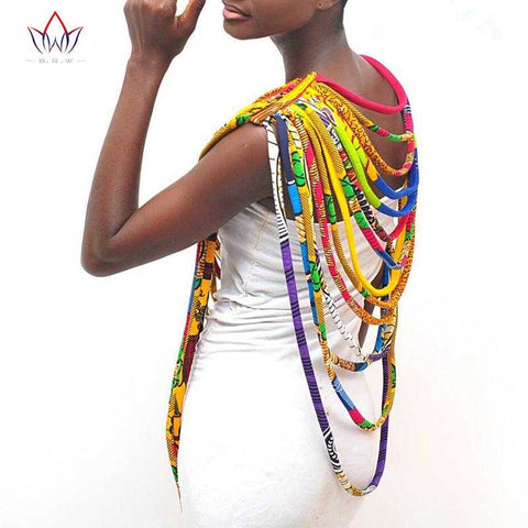 African Print  Shawl Necklace WYX06 | Dial_Outfits