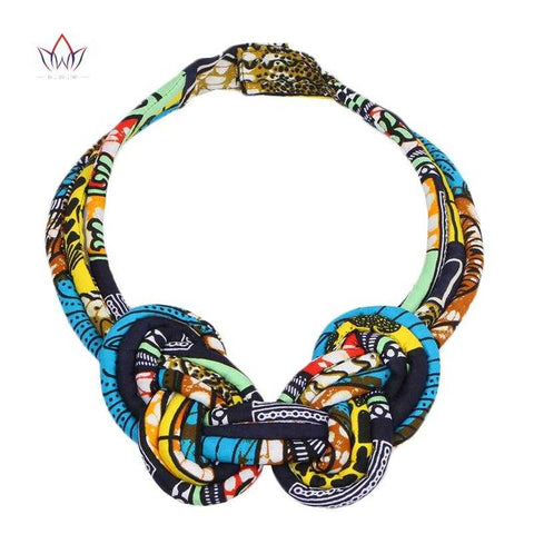 Image of African Print  Knotted Necklace WYB133 | Dial_Outfits