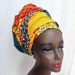 African Print Bazin Head Wrap | Dial_Outfits