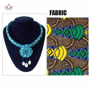 African Print Knotted Necklace WYB390 | Dial_Outfits