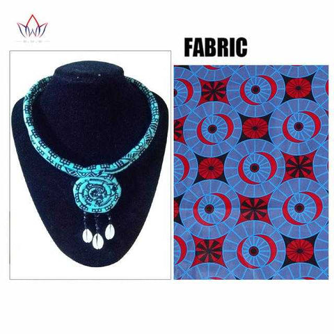Image of African Print Knotted Necklace WYB390 | Dial_Outfits