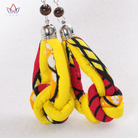 Image of African Print Ethnic Earrings WYA03 | Dial_Outfits