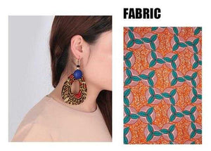 African Print Chunky Earrings WYB55 | Dial_Outfits