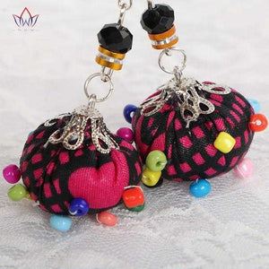 African Print Colorful Beads Earrings WYA021 | Dial_Outfits