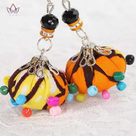Image of African Print Colorful Beads Earrings WYA021 | Dial_Outfits