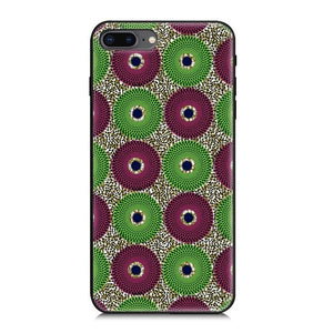 African Ankara Print iPhone6/iPhone7plus Phone Wax Phone Case Silicone Phone Case | Dial Outfits