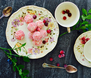 Roseroot Truffles with Lingonberry Xylitol