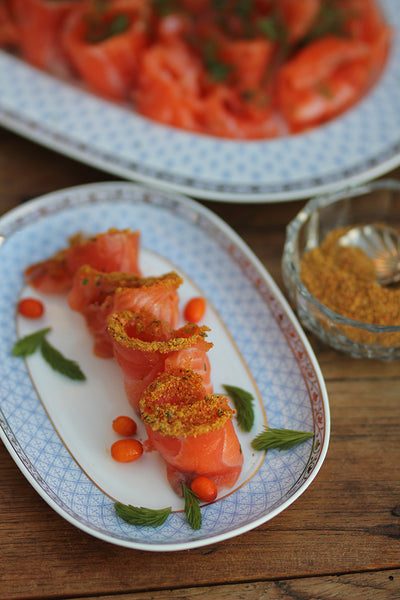 salmon with forest spice