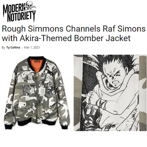 Modern Notoriety - Rough Simmons Channels Raf Simons with Akira-Themed Bomber Jacket