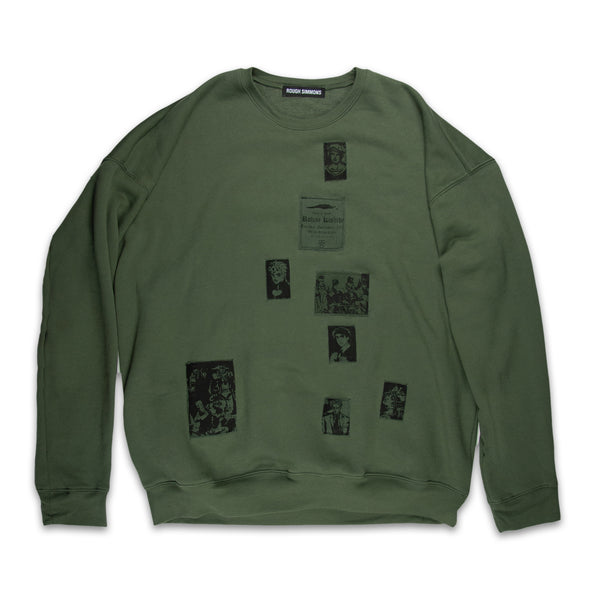 Green Patched Sweatshirt