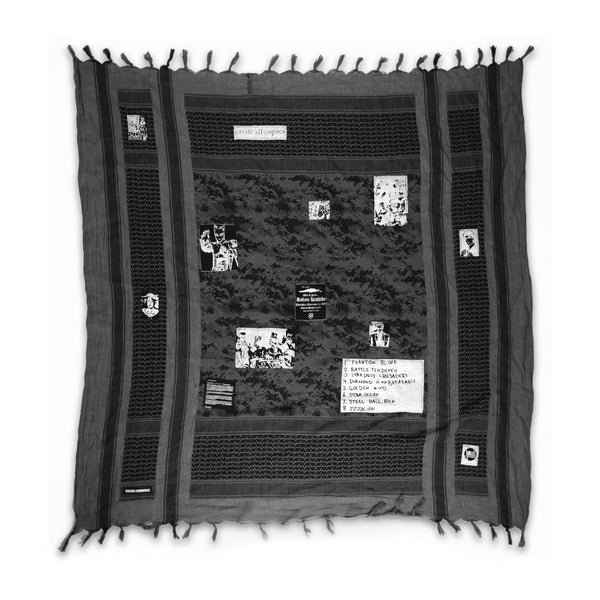 Black Digi Camo Patched Keffiyeh
