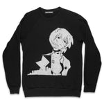 Printed Raglan Fleece Sweatshirt