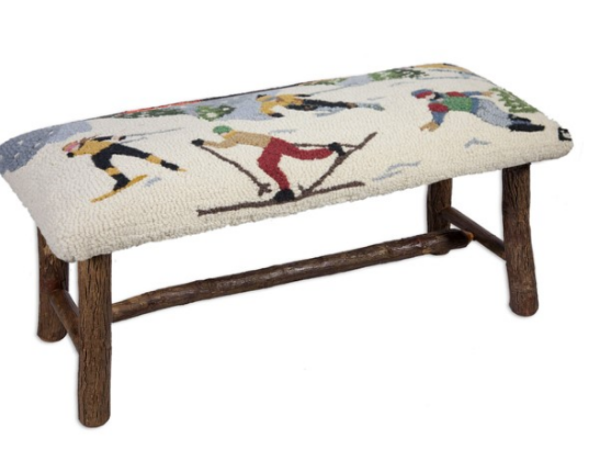 Winter Sports Hooked Accent Bench