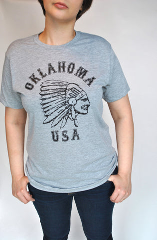 Oklahoma USA Tee in Gray